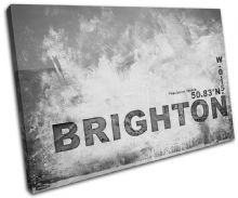 Brighton England City Typography - 13-2111(00B)-SG32-LO